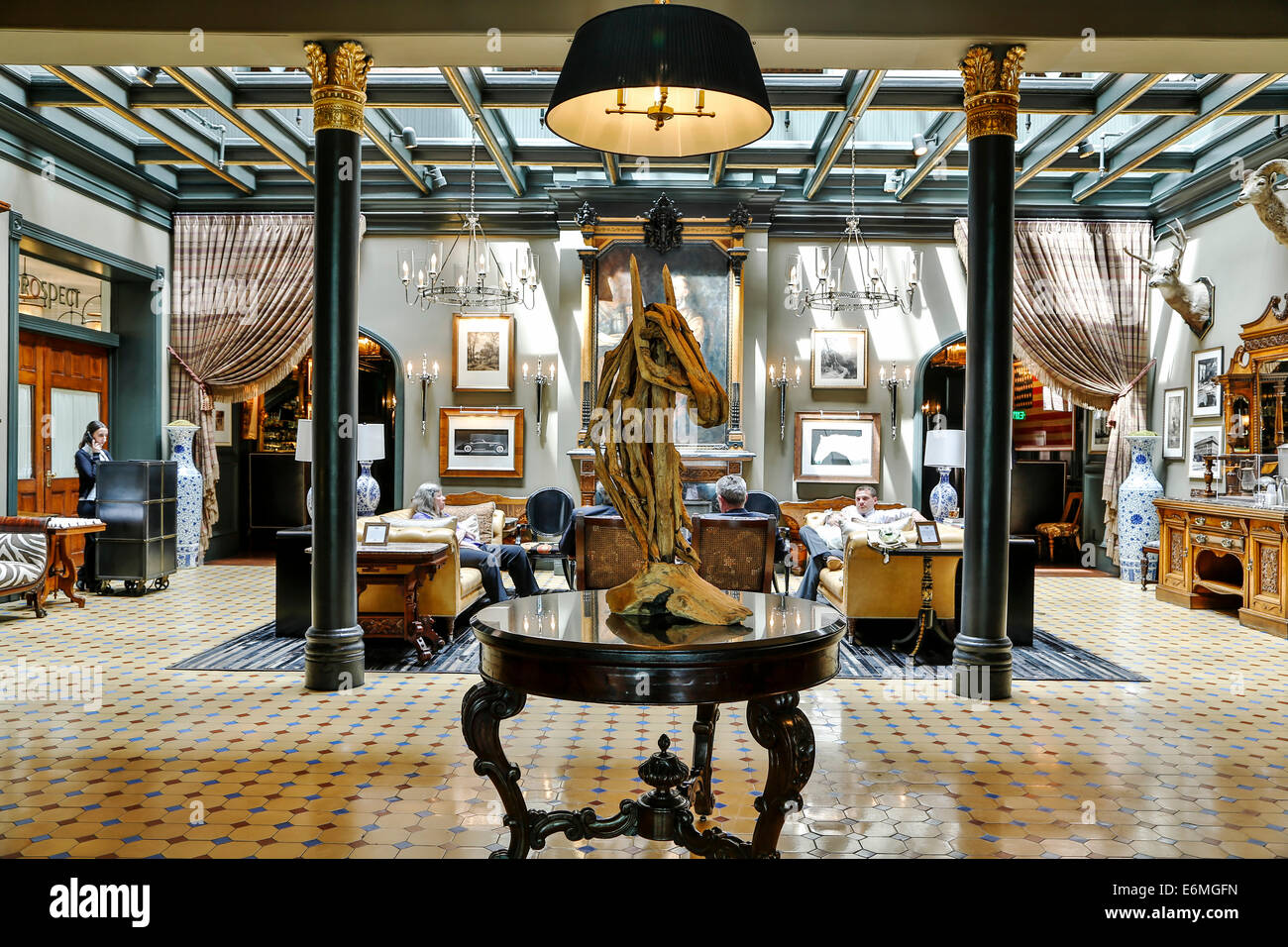 Lobby historic hotel jerome aspen colorado usa stock image