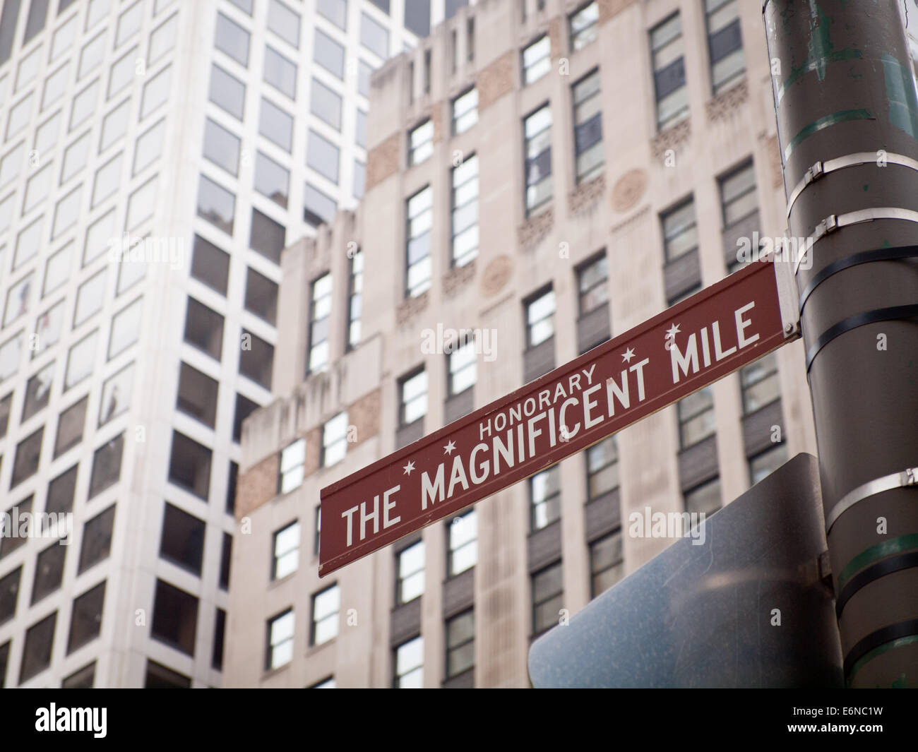 Magnificent Mile Chicago Stock Photos  Magnificent Mile Chicago - Chicago map miracle mile