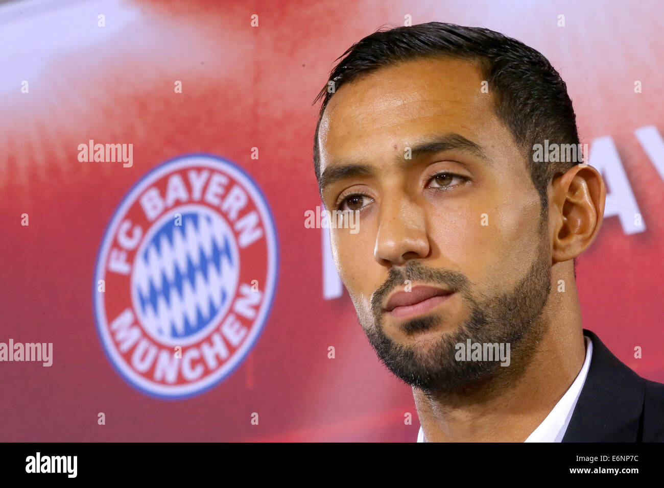 Munich Germany 28th Aug 2014 Mehdi Benatia of FC Bayern