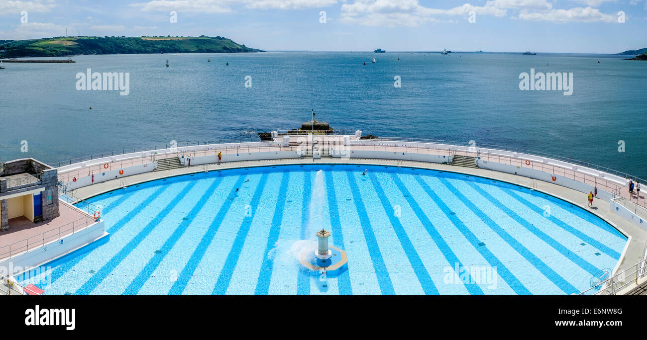 Plymouth Lido Opening Air Swimming Pool Plymouth Devon England Uk Stock Photo Royalty Free