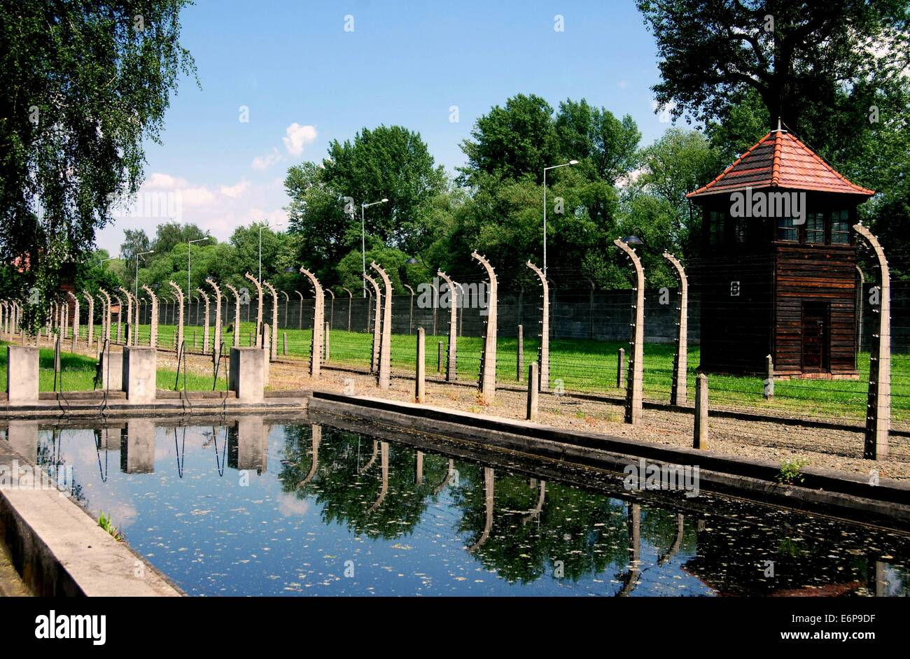 Auschwitz Poland Swimming Pool Nazis Built To Demonstrate To Red Stock Photo Royalty Free