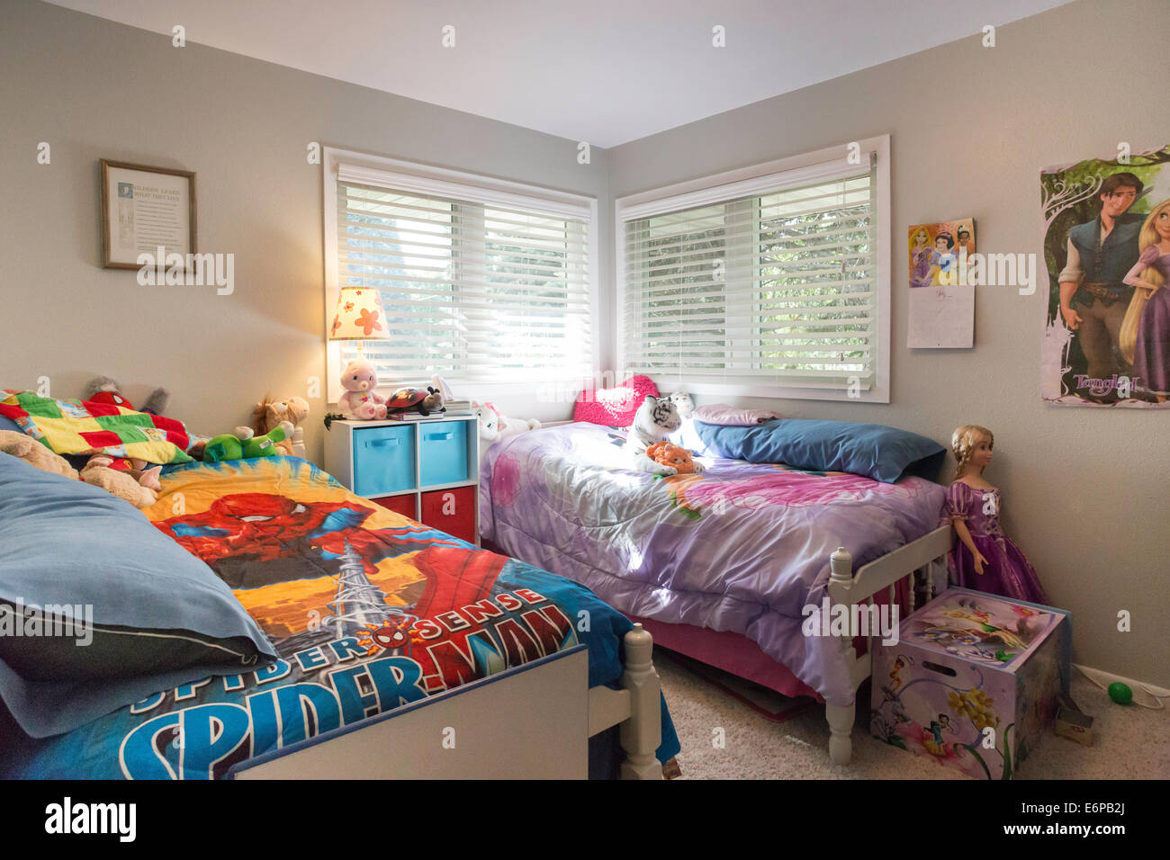 Brother And Sister Bedroom Usa Stock Photo Royalty Free