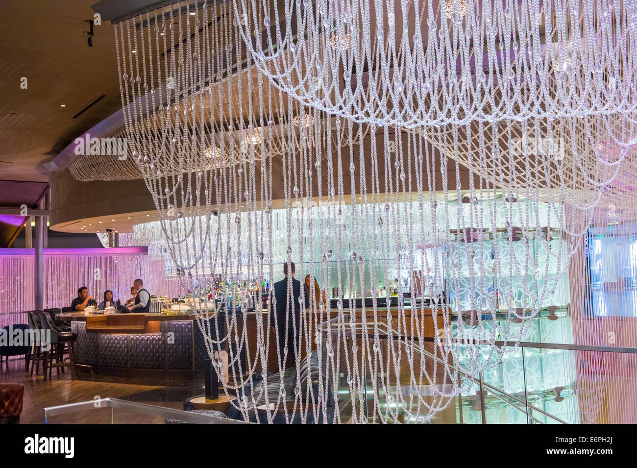 The Chandelier Bar at the Cosmopolitan Hotel & Casino in Las Vegas ...