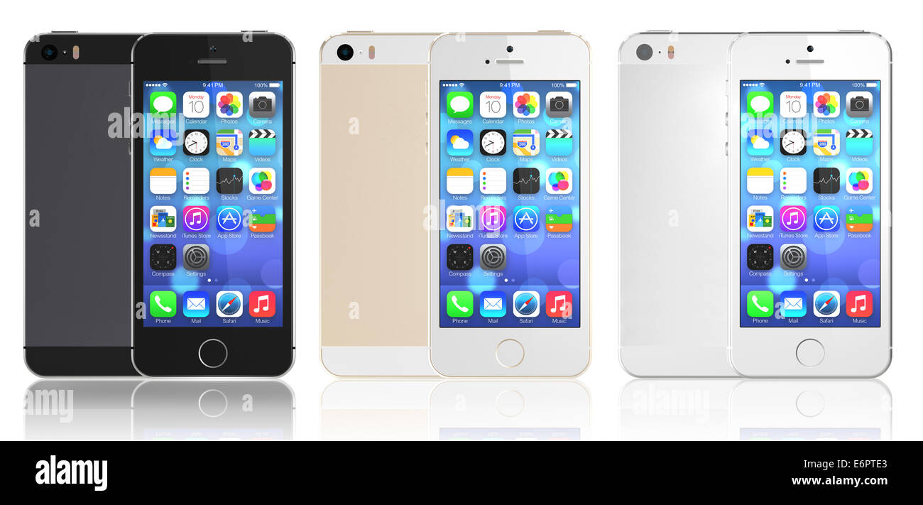 Space gray silver gold iphone 5s showing the home screen - Wallpaper iphone 5s space grey ...
