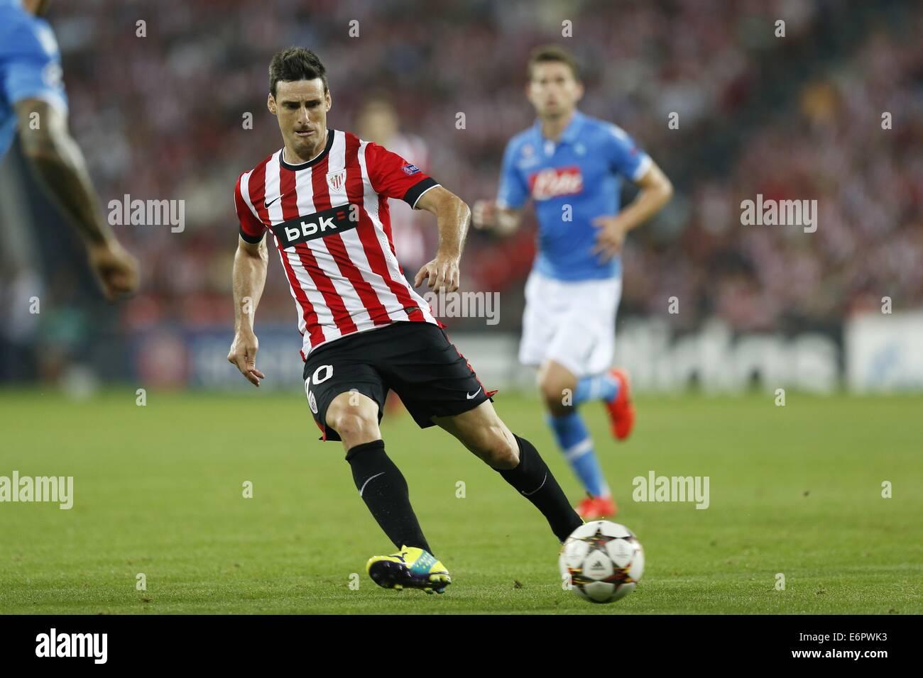 Bilbao Spain 27th Aug 2014 Aritz Aduriz Bilbao Football