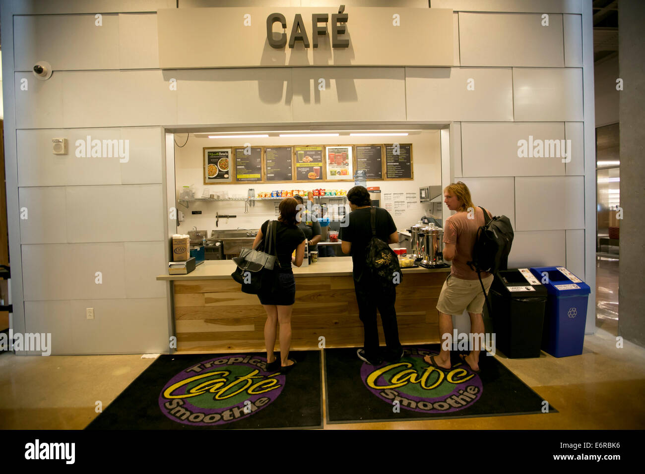 Cafe Restaurant Inside Austin Community College Building Where Students Can Purchase Food