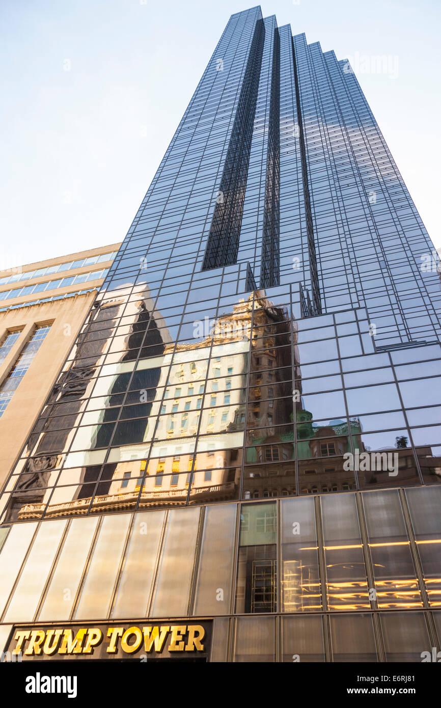 stock photo shopping mall fifth avenue trump tower manhattan york city