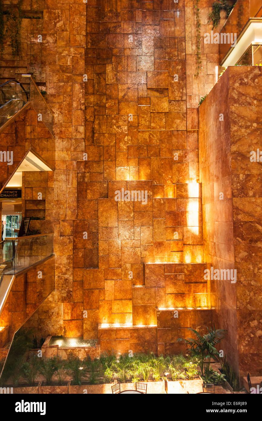 The Atrium Inside Trump Tower 725 Fifth Avenue Manhattan