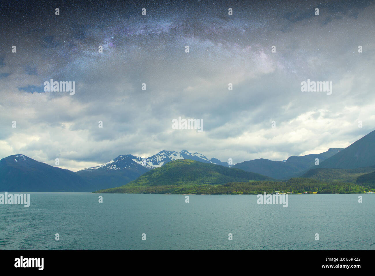 Night Fjord In The Most Beautiful Place On Earth Stock Photo Royalty Free Image 73052394 Alamy