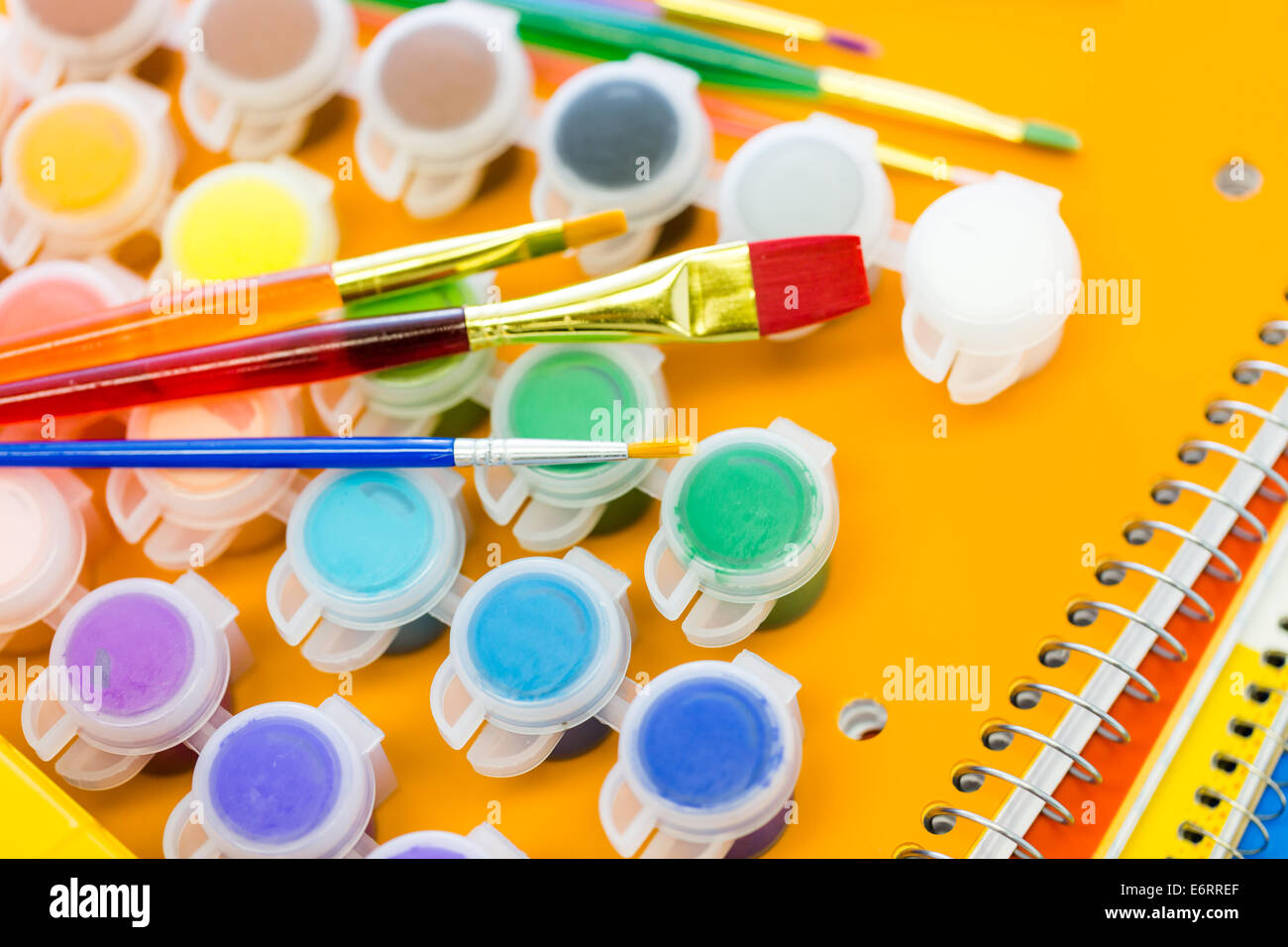 Modern Classroom Supplies ~ New school supplies ready for year stock photo