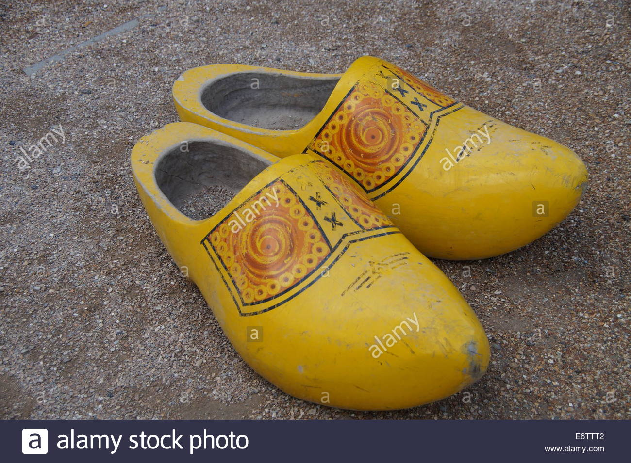 pair of wooden shoes clogs klompen stock photo royalty free