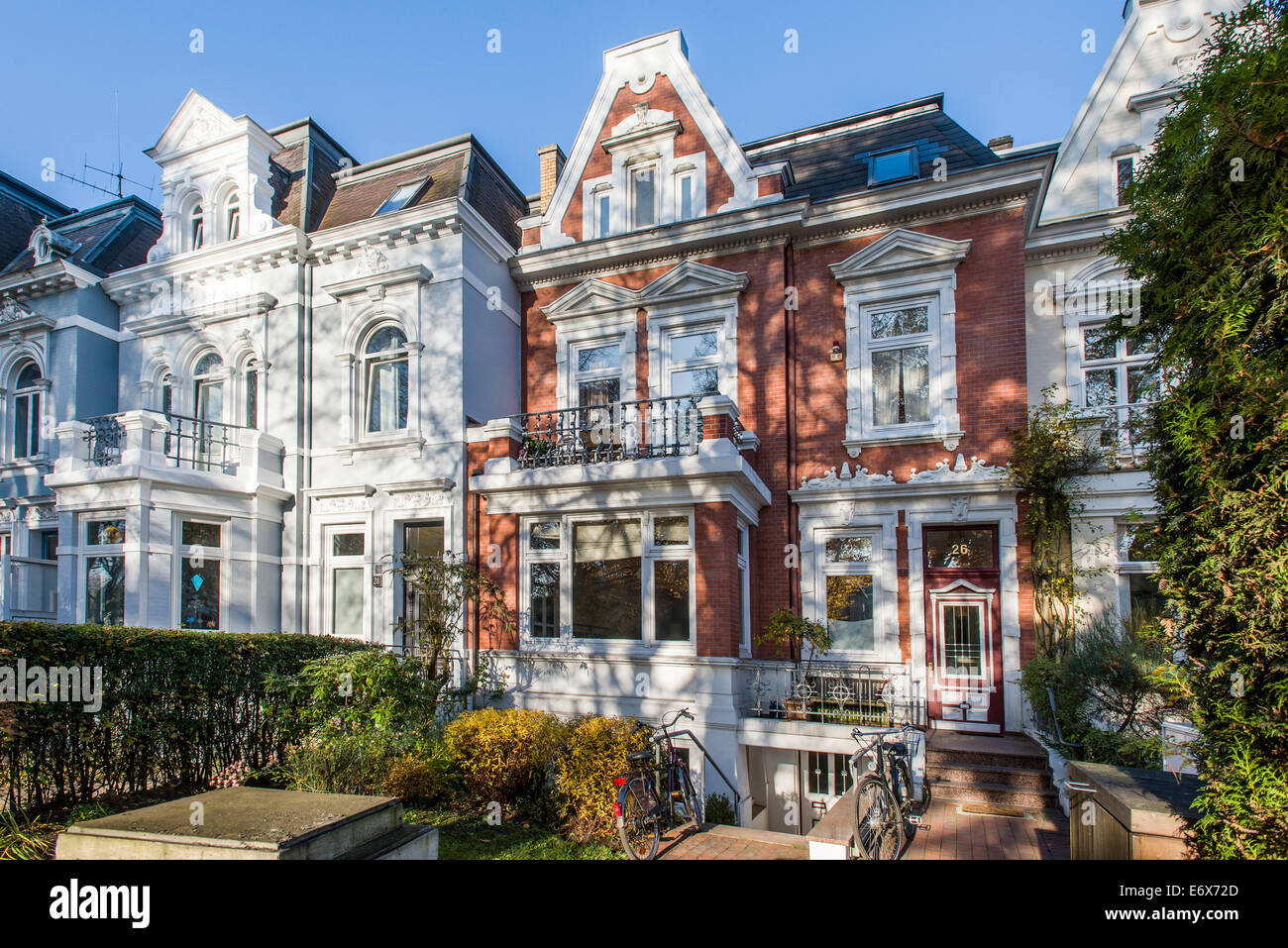 art nouveau houses in hamburg eppendorf hamburg germany stock photo royalty free image. Black Bedroom Furniture Sets. Home Design Ideas