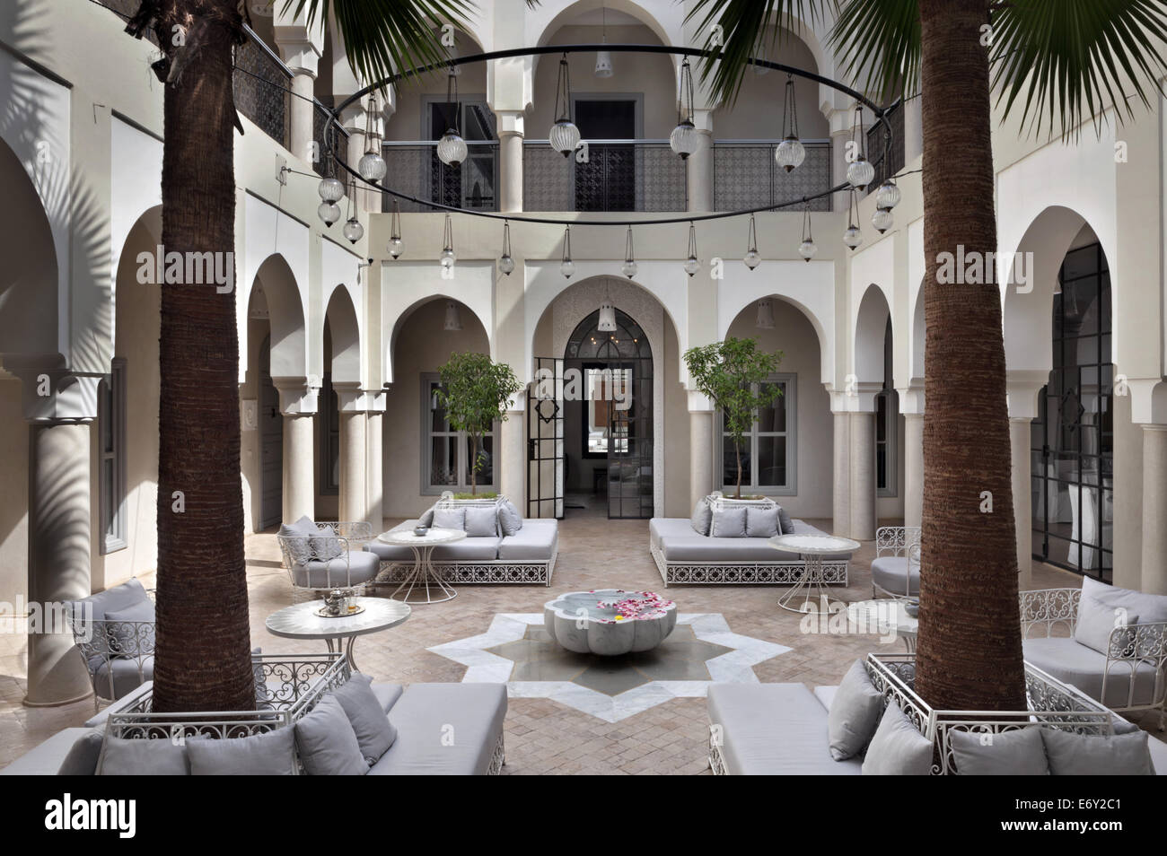 Courtyard riad nashira marrakech morocco stock photo royalty free image - Photo riad marrakech ...