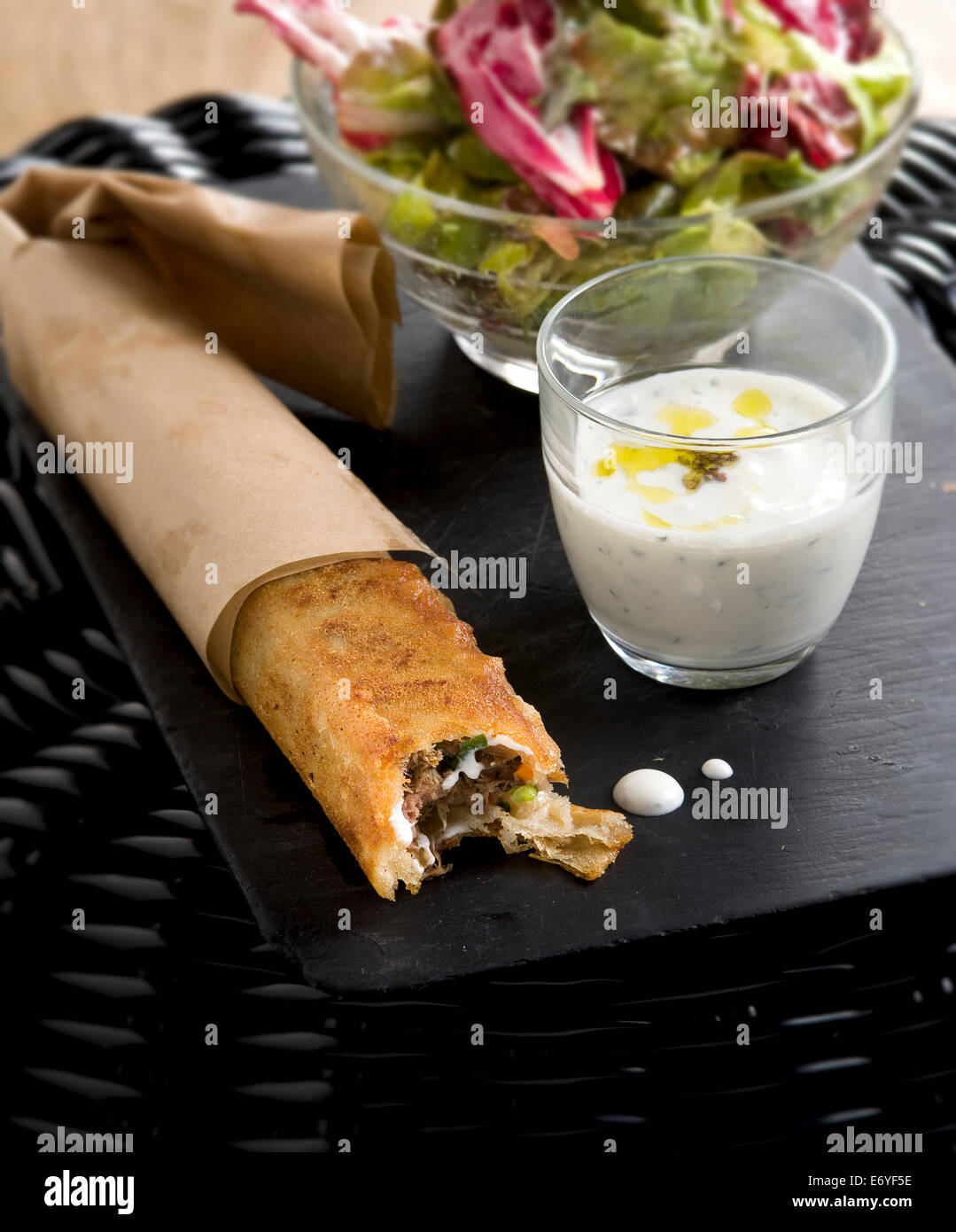 Meat And Filo Pastry Roll Stock Photo Royalty Free Image