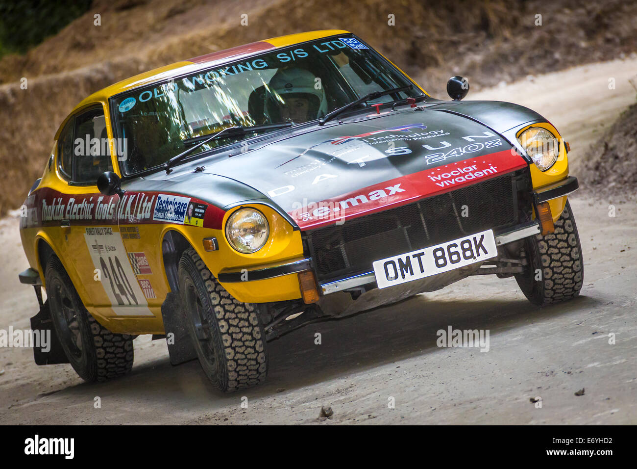 Datsun 240z stock photos datsun 240z stock images alamy 1972 datsun 240z with driver kevin bristow at the 2014 goodwood festival of speed sussex vanachro Gallery