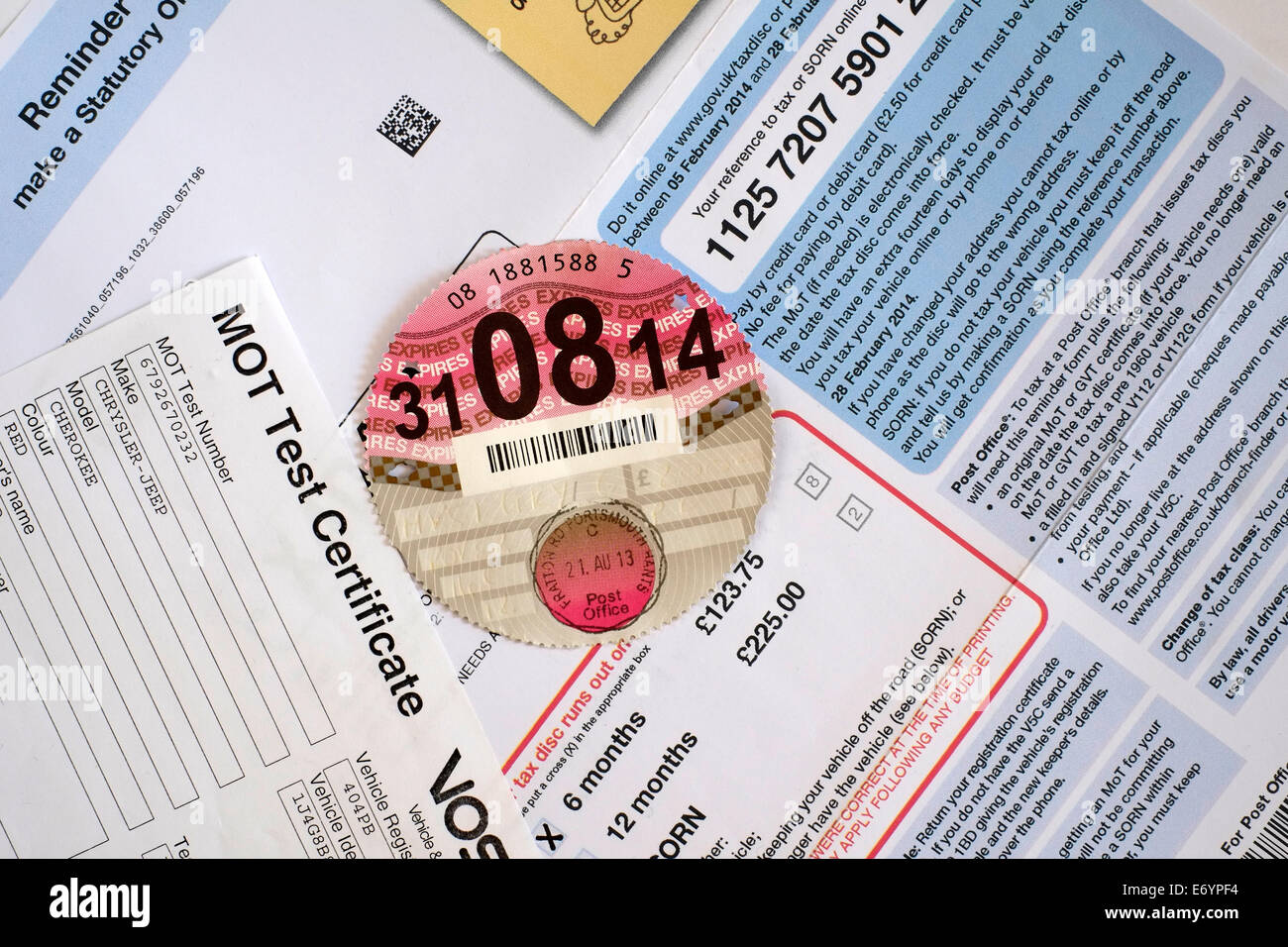 Car documents uk stock photos car documents uk stock images alamy expired paper car tax disc laying on top of motoring documents stock image 1betcityfo Image collections