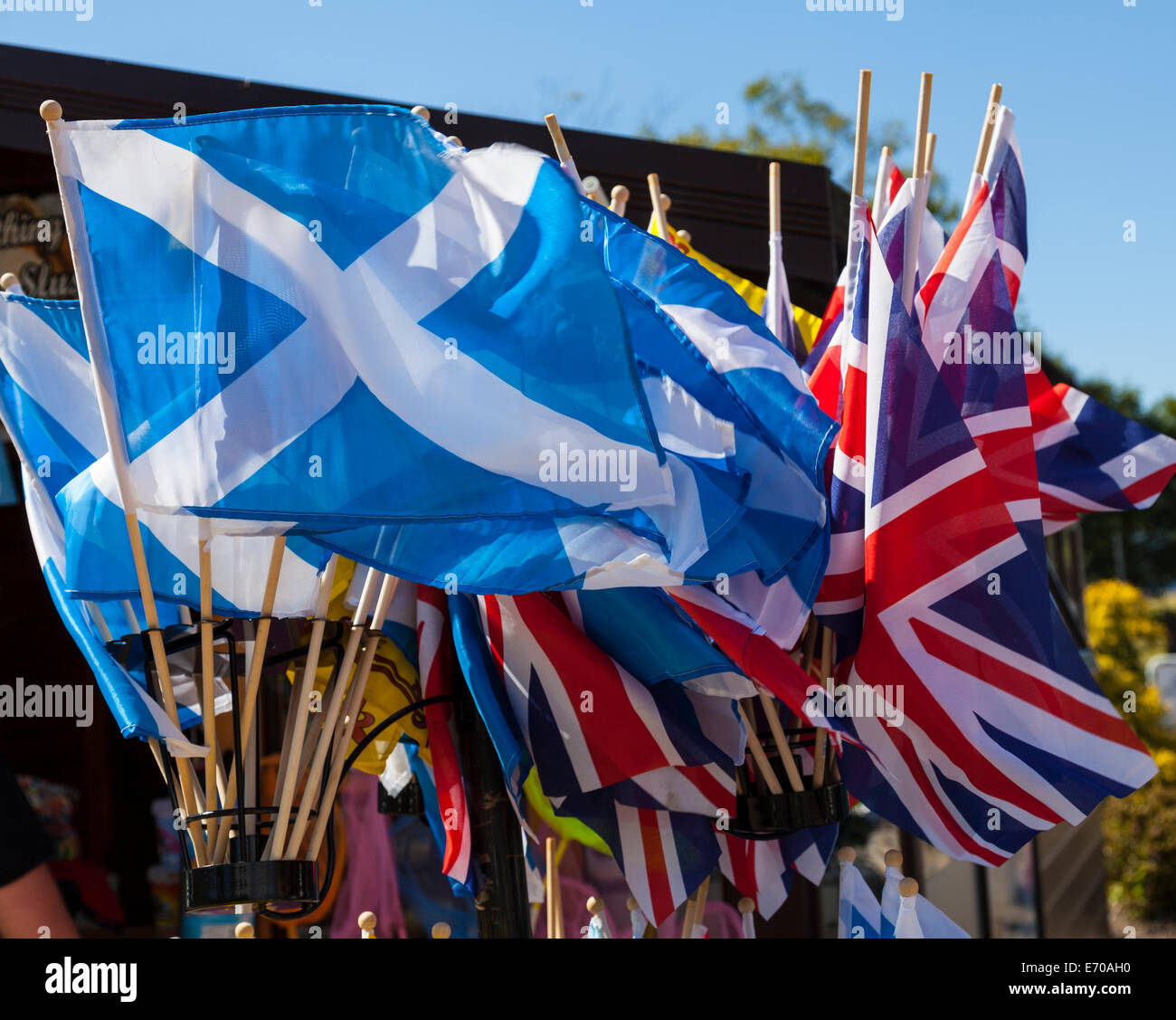 flags of england and scotland stock photo royalty free image