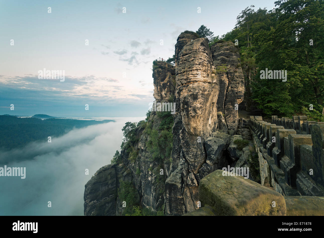 Bastei Bridge Saxony Stock Photo