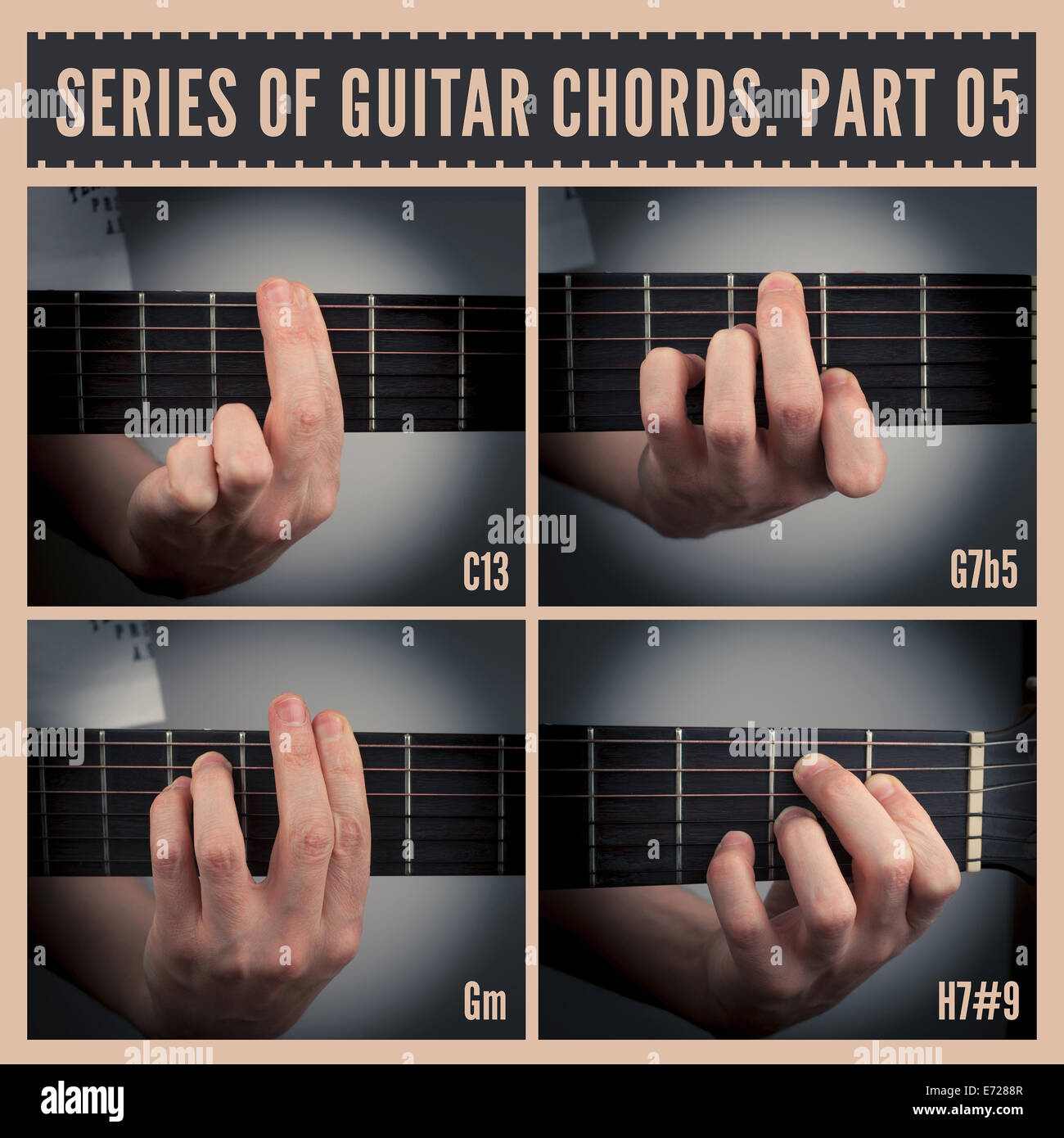 Guitar Chords Stock Photo Royalty Free Image 73194487 Alamy
