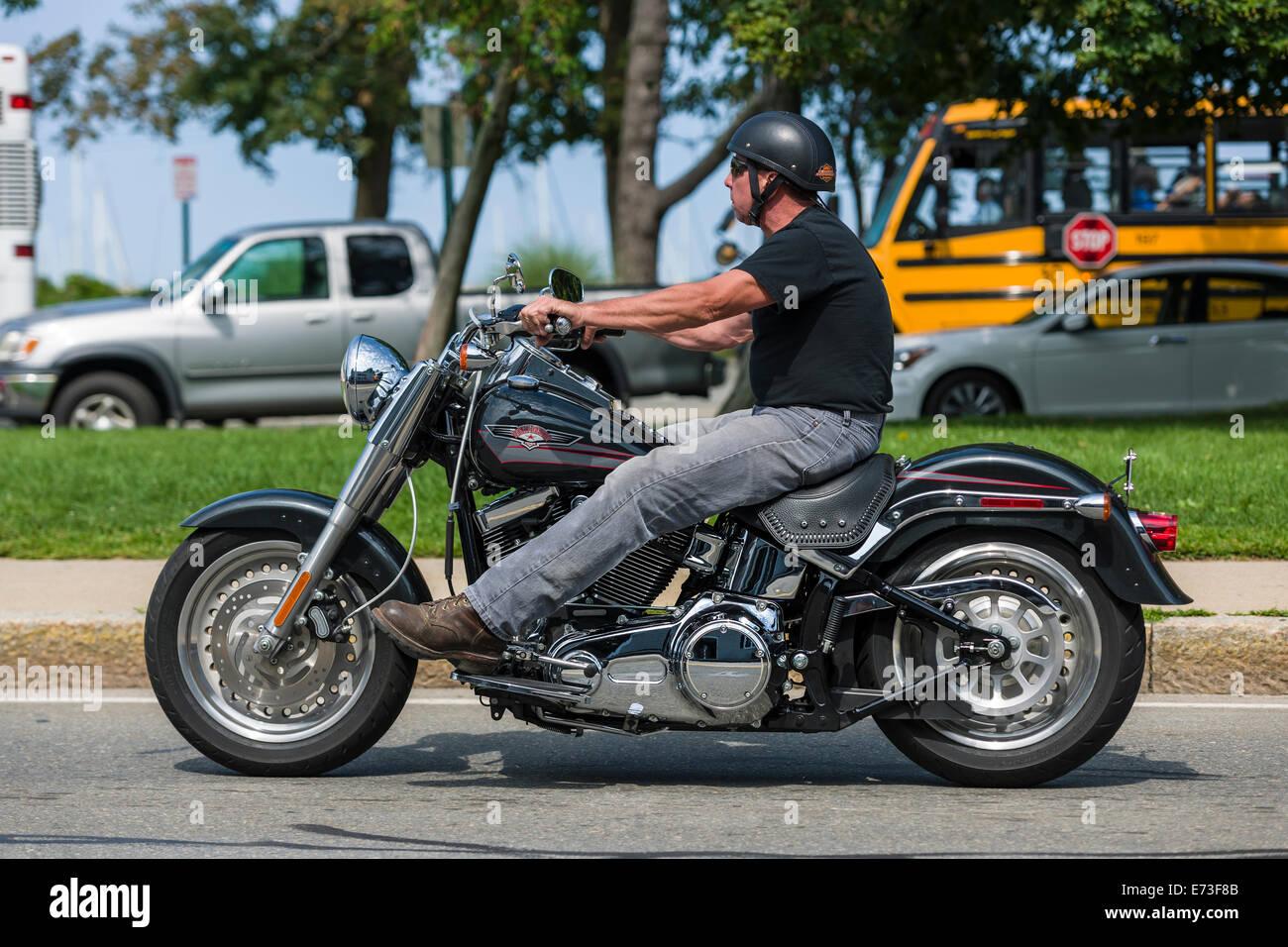 harley davidson rider stock photo 73221915 alamy. Black Bedroom Furniture Sets. Home Design Ideas
