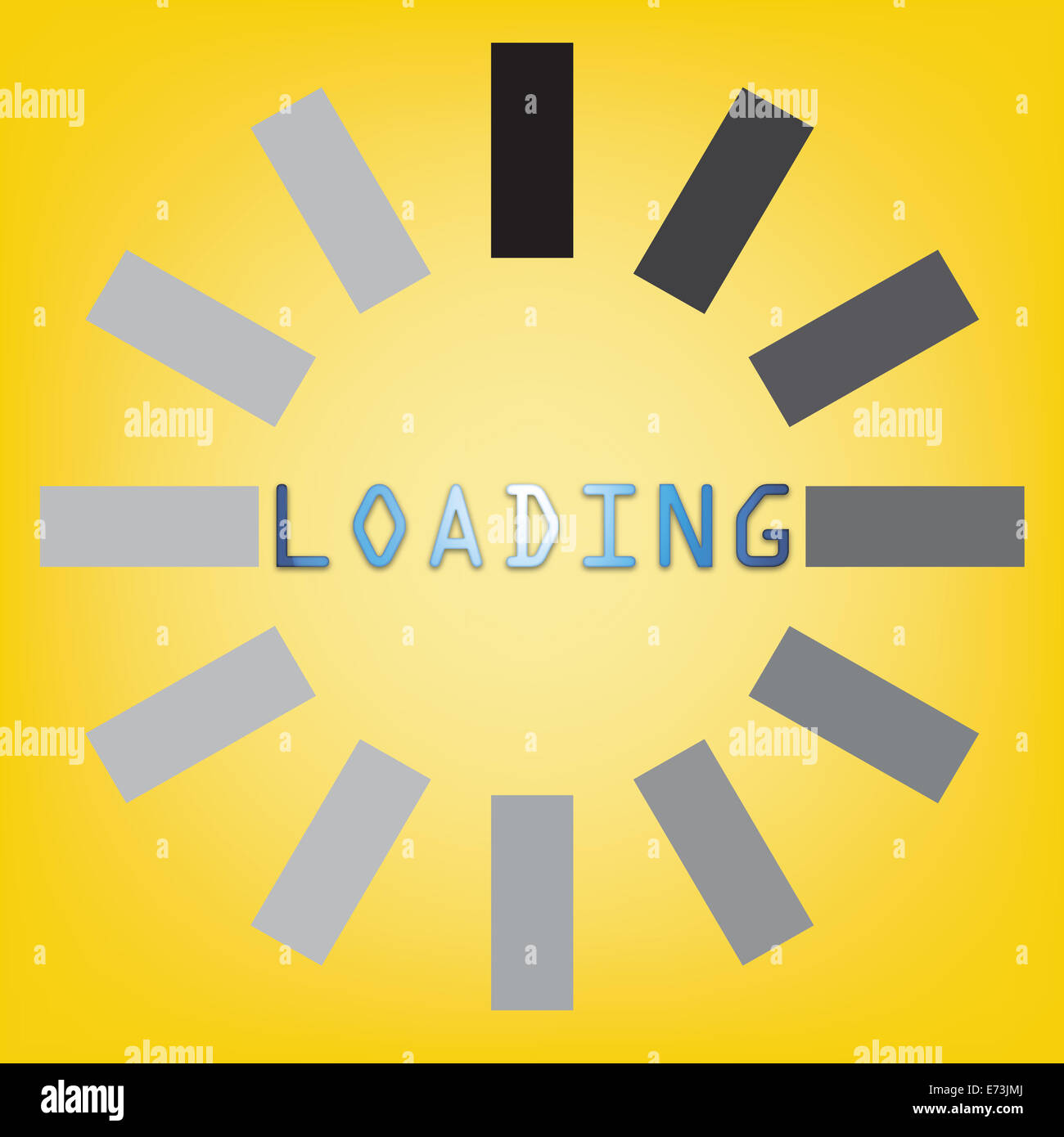 Abstract loading symbol on a yellow background stock photo abstract loading symbol on a yellow background biocorpaavc Image collections