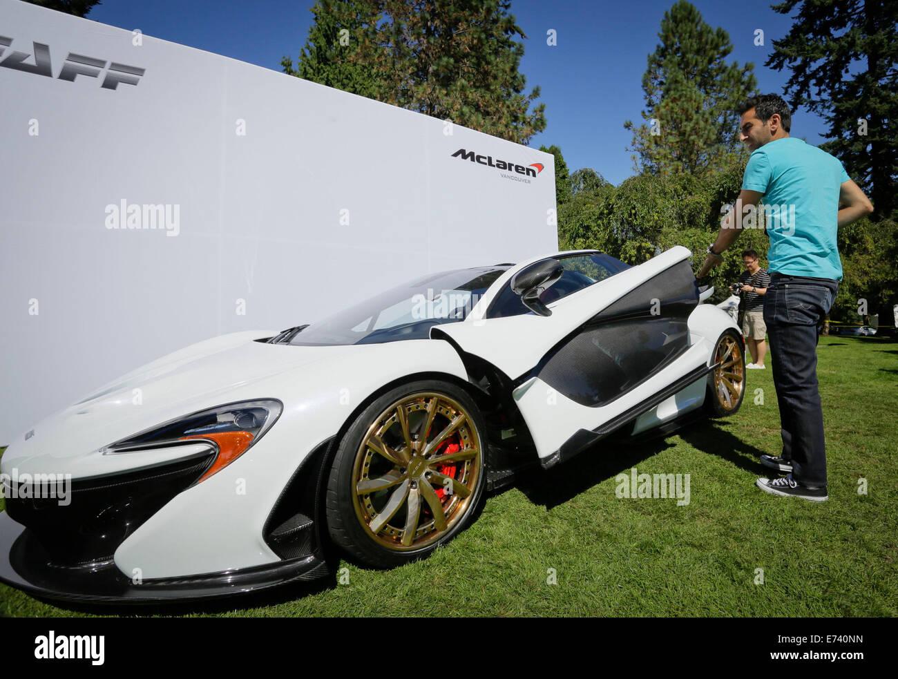 Merveilleux Vancouver, Canada. 5th Sep, 2014. A McLaren P1 Super Car  Displays