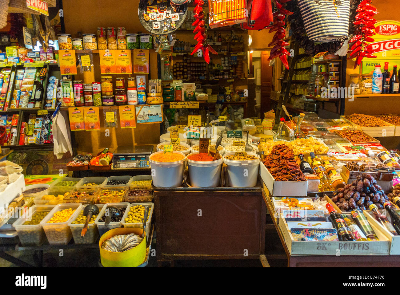 perpignan france inside local french food markets fresh grocery stock photo royalty free. Black Bedroom Furniture Sets. Home Design Ideas