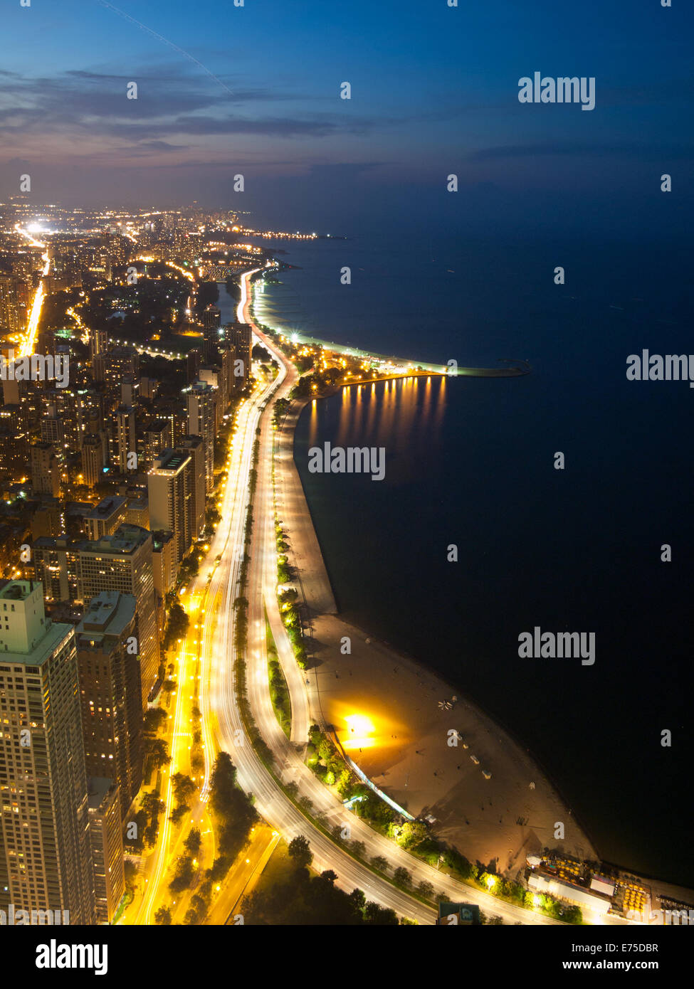 Shore Lake Michigan Lake View Stock Photos  Shore Lake Michigan - Chicago map north avenue beach