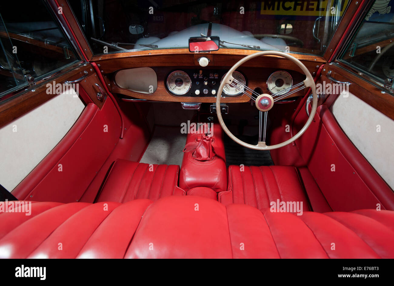 morgan plus 4 classic british sports car interior stock photo royalty free image 73285075 alamy. Black Bedroom Furniture Sets. Home Design Ideas