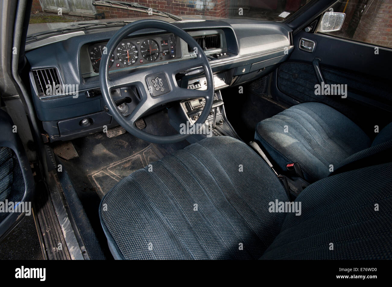 peugeot 604 french classic car early 80s model velour interior stock photo 73295740 alamy. Black Bedroom Furniture Sets. Home Design Ideas