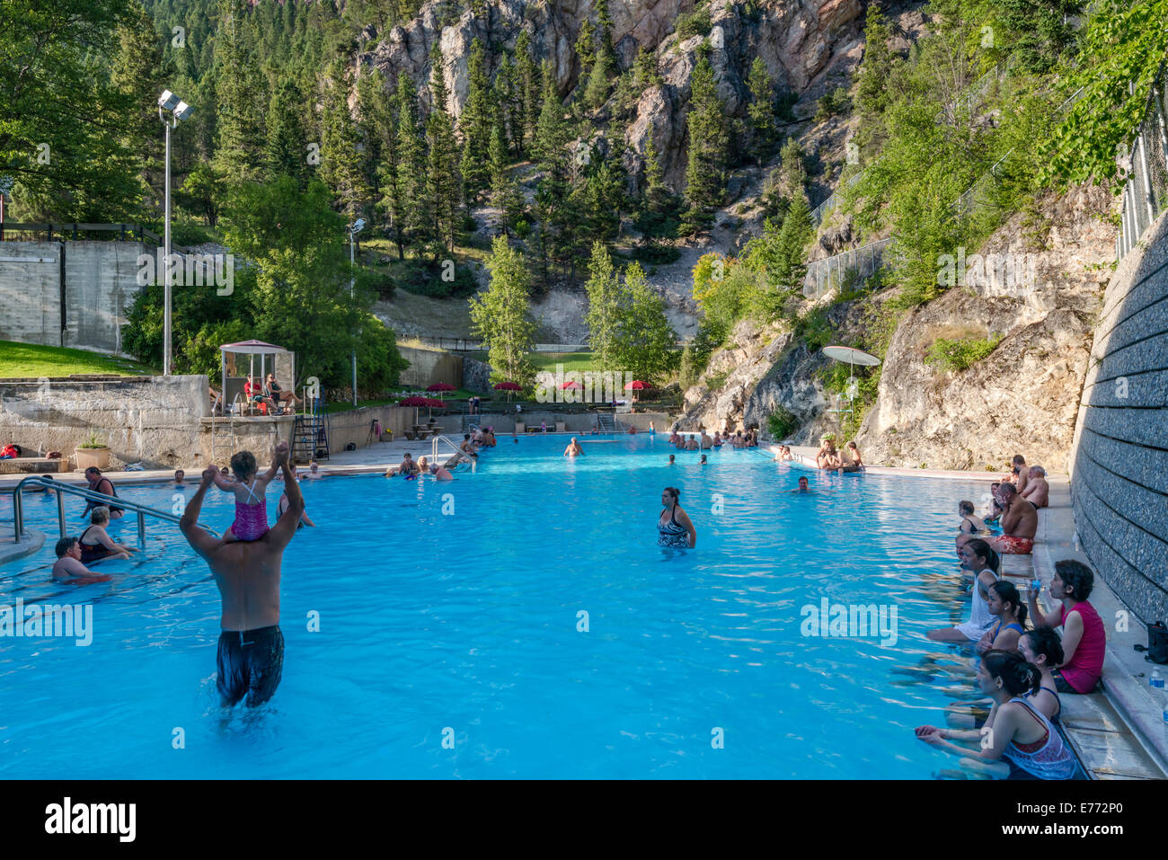 Hot water pool for soaking outdoors at radium hot springs resort hot water pool for soaking outdoors at radium hot springs resort at kootenay national park canadian rockies british columbia sciox Image collections