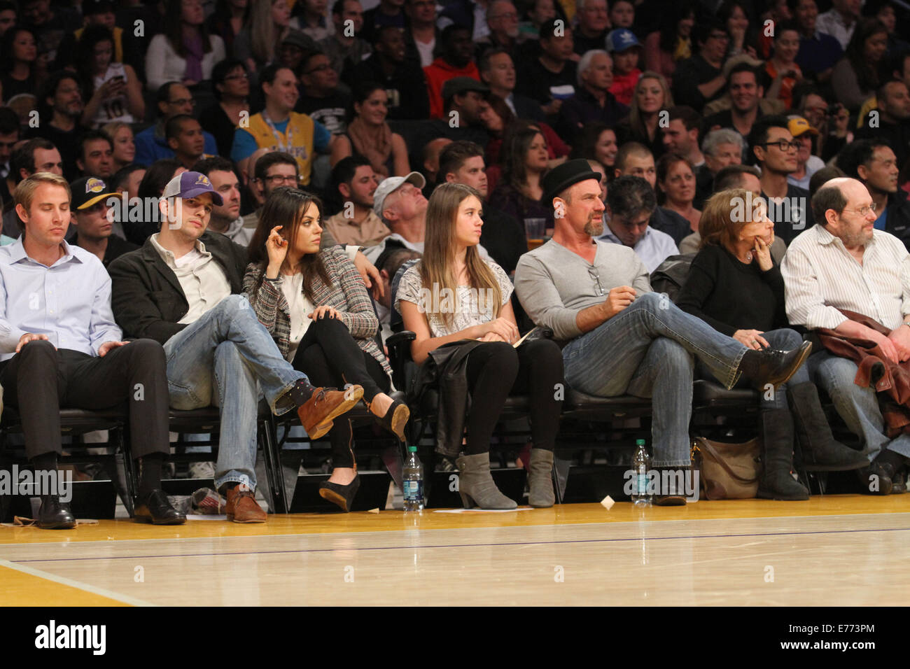 Celebrities courtside at the Los Angeles Lakers v New Orleans Stock Photo, Royalty Free Image ...