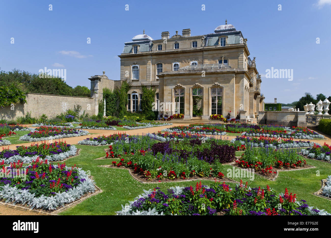 Italian Gardens At Wrest Park UK The Stately Home In Background