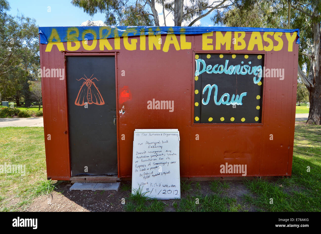 The Aboriginal Tent Embassy Old Parliament House Canberra Australia & The Aboriginal Tent Embassy Old Parliament House Canberra Stock ...