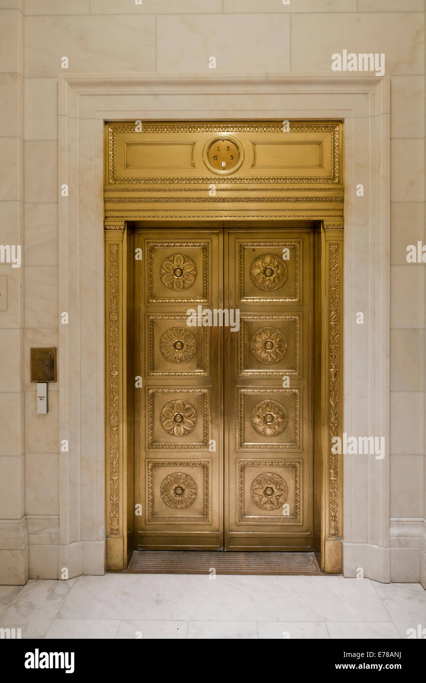 Vintage brass elevator doors at US Supreme Court building - Washington DC USA & Vintage brass elevator doors at US Supreme Court building Stock ... pezcame.com