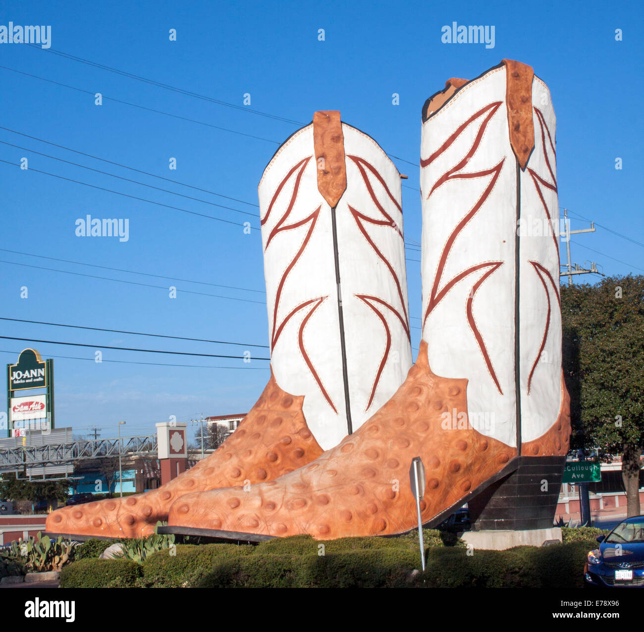 Giant Cowboy Boots Outside A Mall In San Antonio Texas