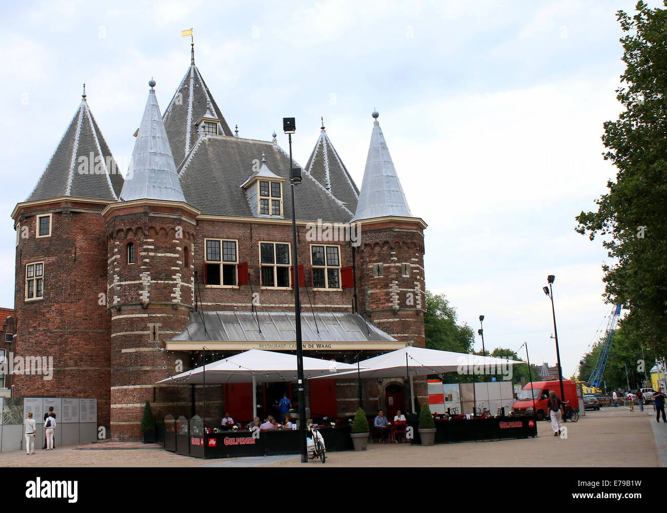 In De Waag, 15th century city gate which is now a restaurant in Nieuwmarkt Square