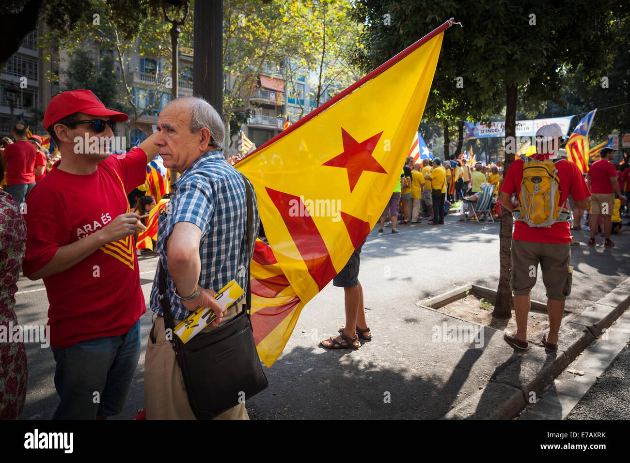 Barcelona, Catalonia, Spain. 11th September 2014. Catalan ...