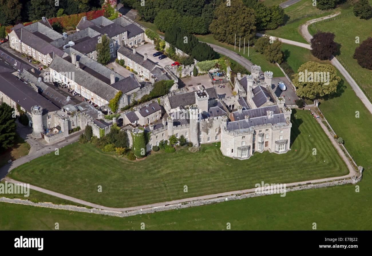 Aerial View Of Bodelwyddan Castle Hotel Near Rhyl In