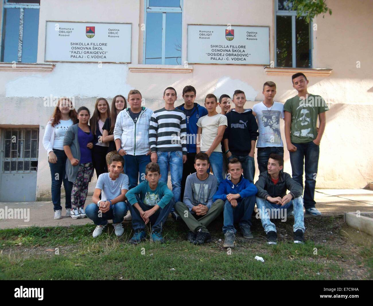 Obilic serbia 12th sep 2014 students of the albanian 9th grade obilic serbia 12th sep 2014 students of the albanian 9th grade pose sciox Images