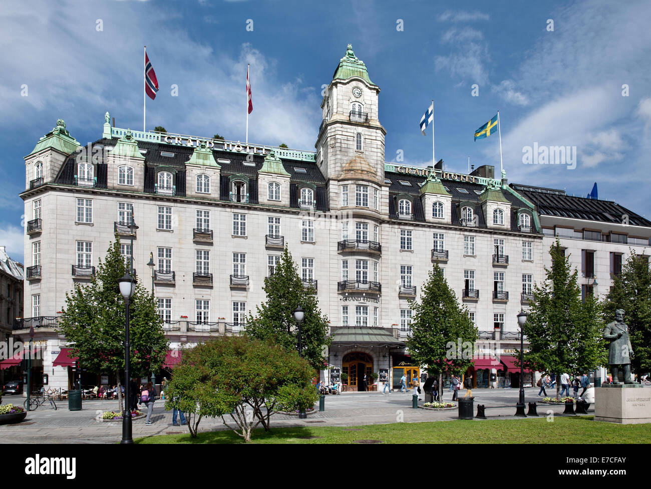 grand hotel oslo norway stock photo royalty free image. Black Bedroom Furniture Sets. Home Design Ideas