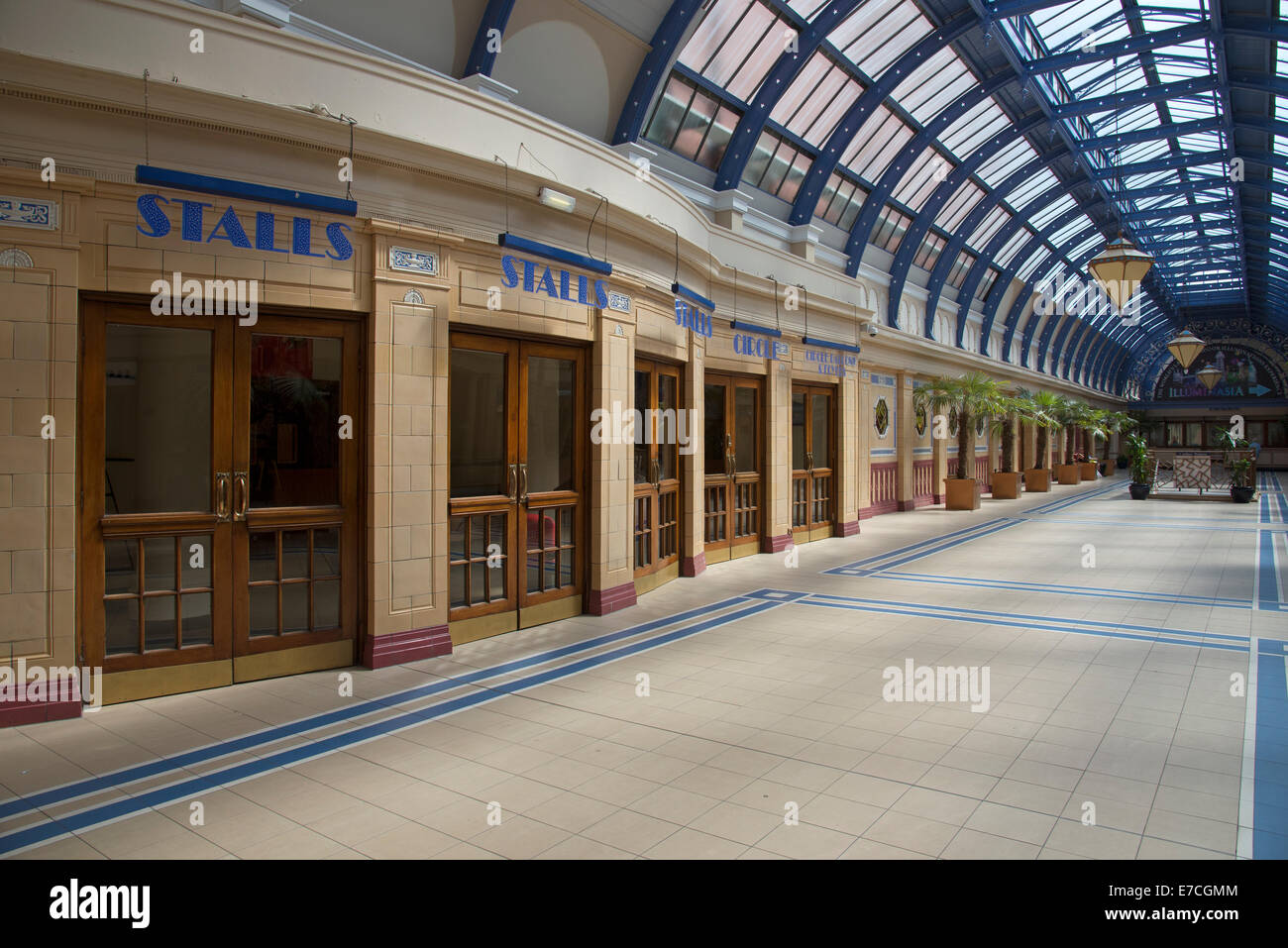opera house entrance doors at winter gardens blackpool lancashire