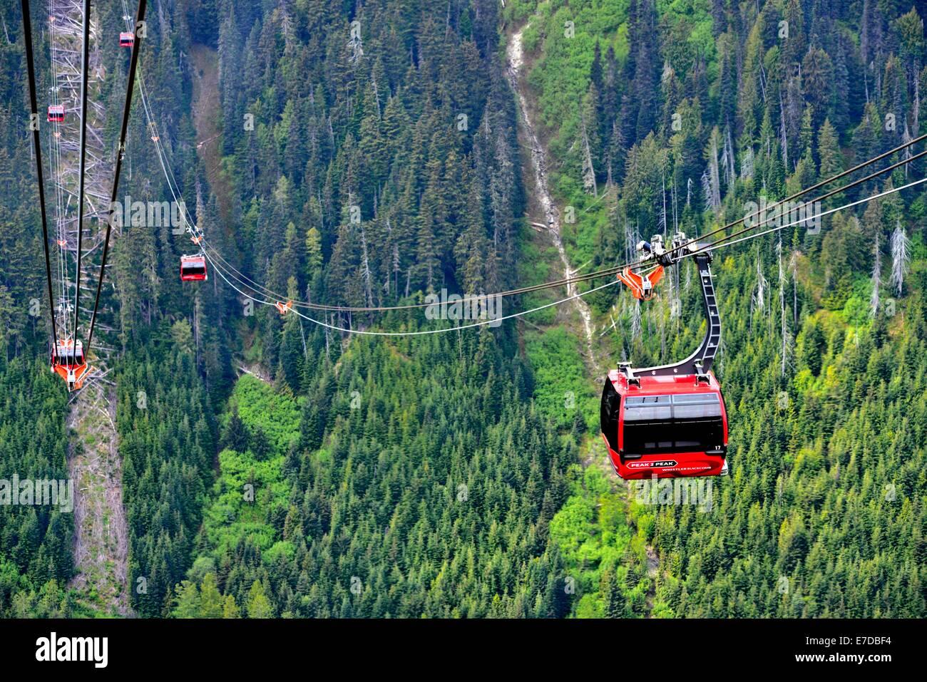 Whistler Peak To Peak Gondola Transports Skiers And