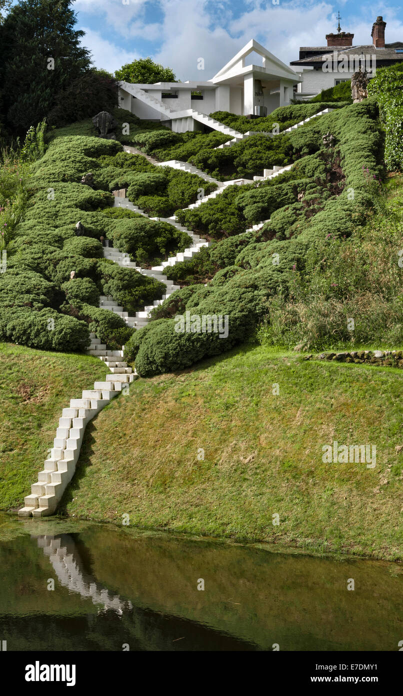 the garden of cosmic speculation dumfries scotland charles jencks stock photo royalty free. Black Bedroom Furniture Sets. Home Design Ideas