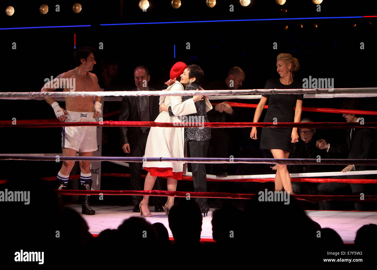 opening night of broadway u0027s rocky at the winter garden theatre