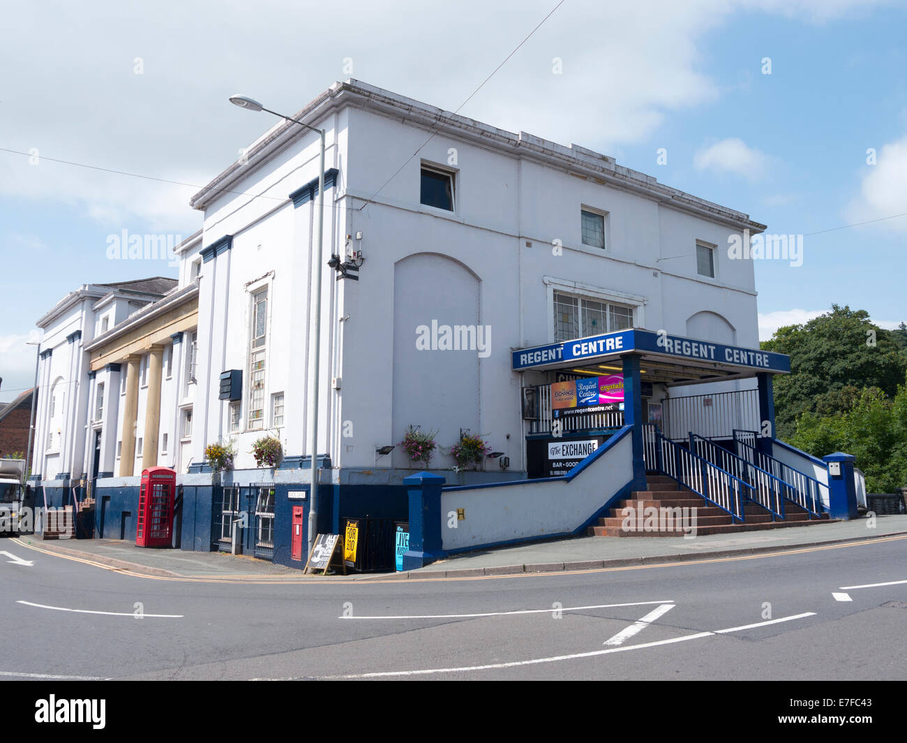 The regent cinema building in newtown powys wales uk for Newtown builders