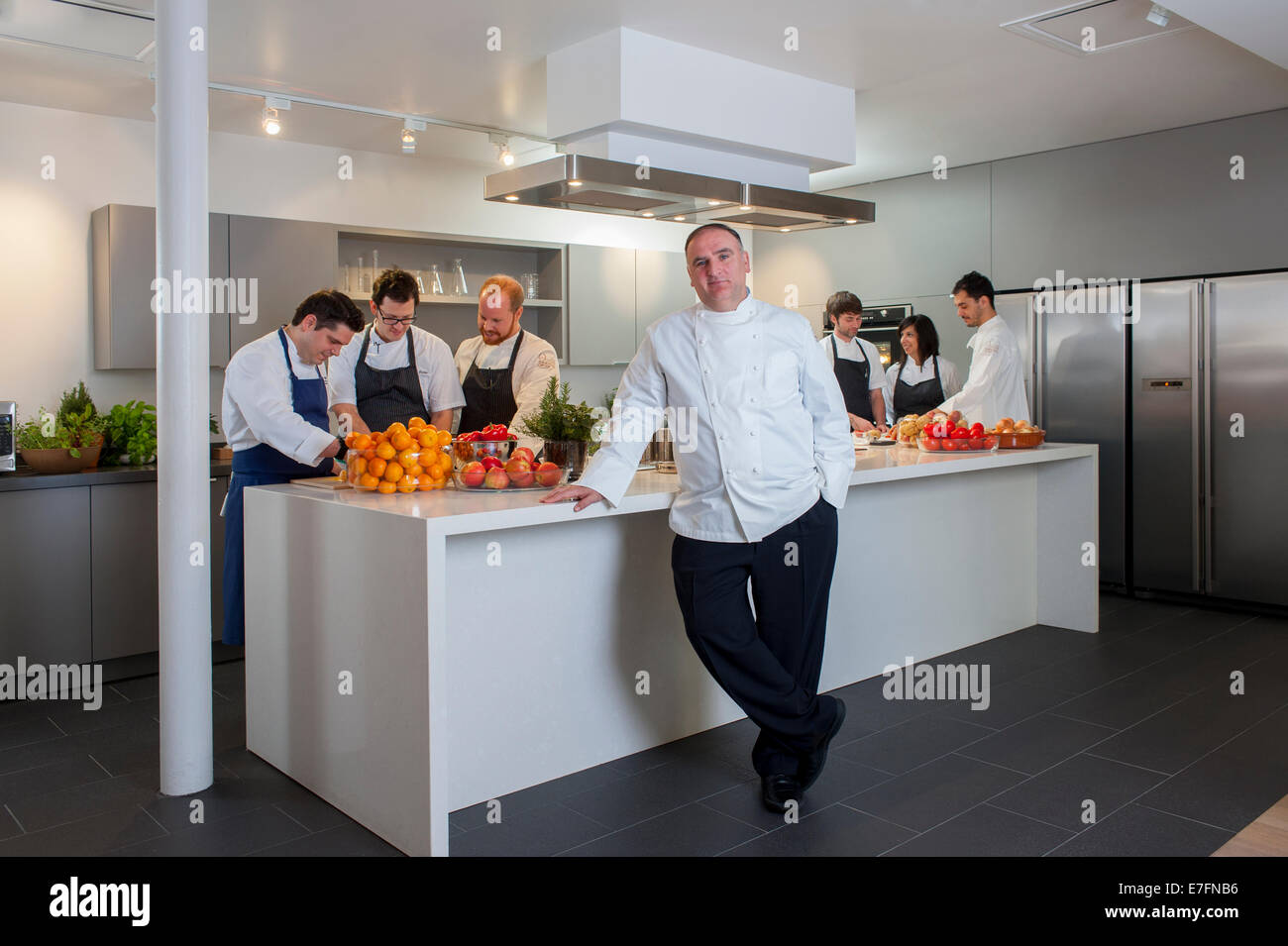 Test Kitchen Chef Chef José Andrés Jose Andres In His Test Kitchen In Washington Dc