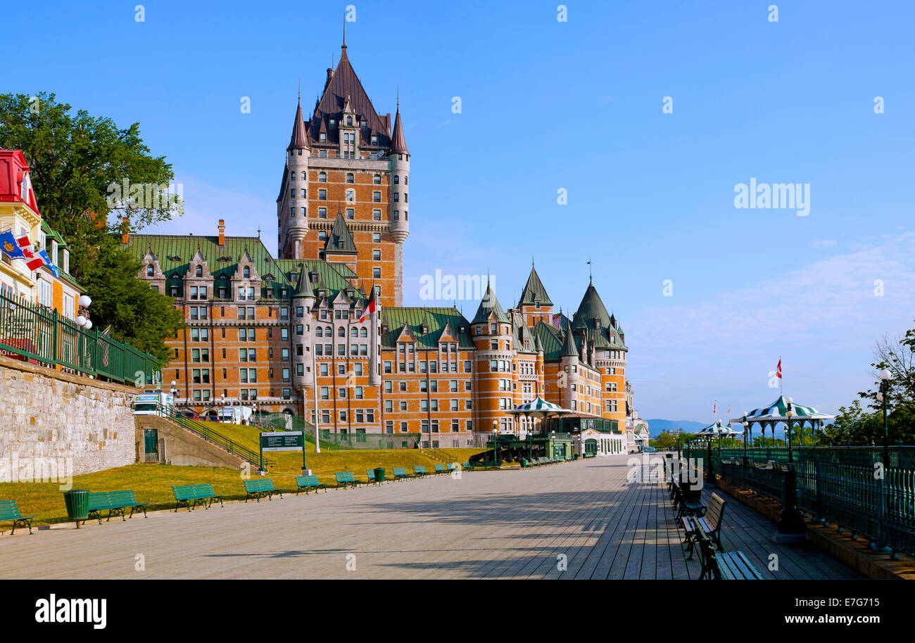 Chateau frontenac and dufferin terrace quebec city for Terrace canada