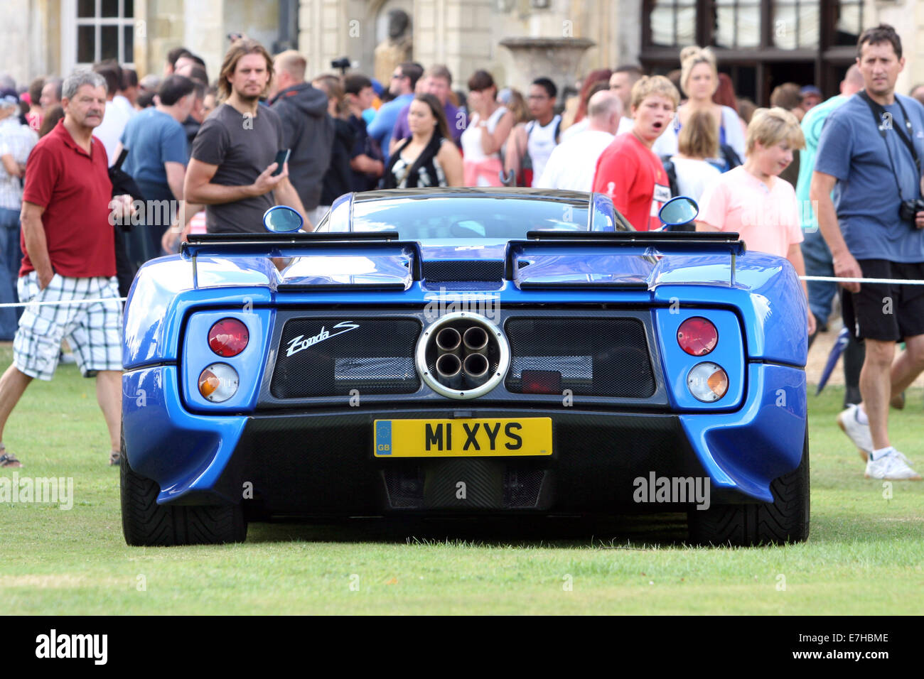 A 2003 Pagani Zonda C12 S In Electric Blue Draws Attention At A