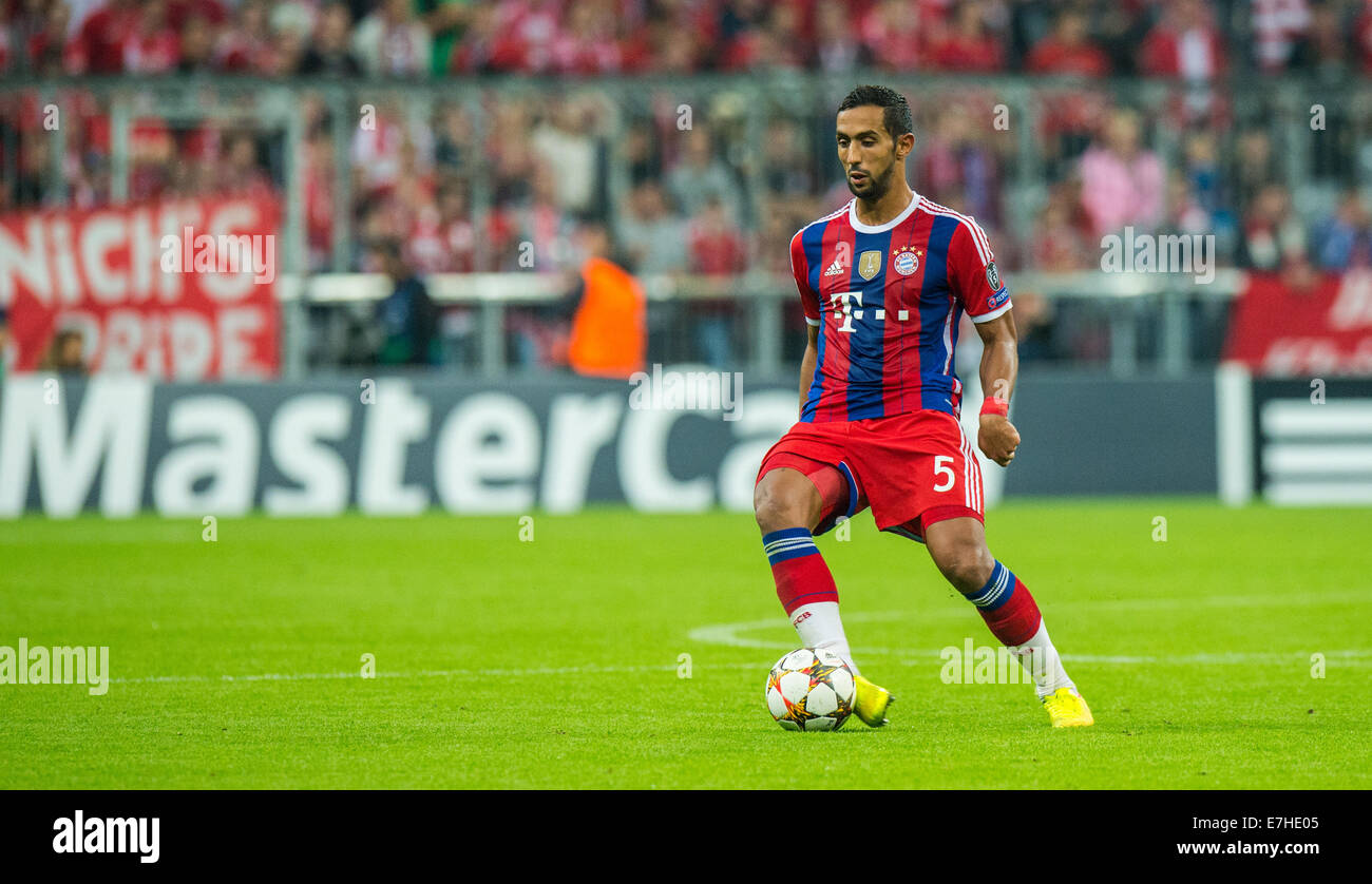 Munich Germany 17th Sep 2014 Bayern Munich s Mehdi Benatia